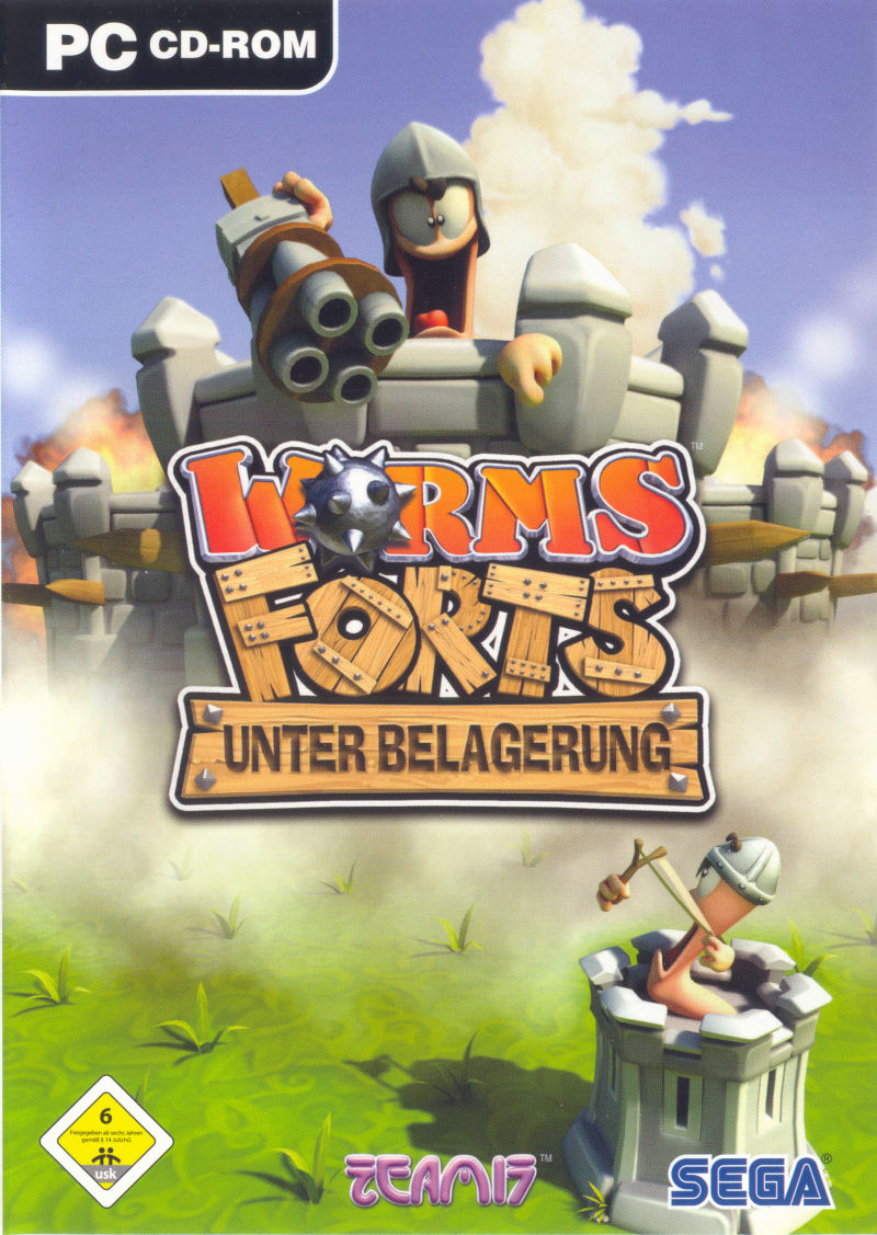 Worms Forts: Under Siege Windows Front Cover