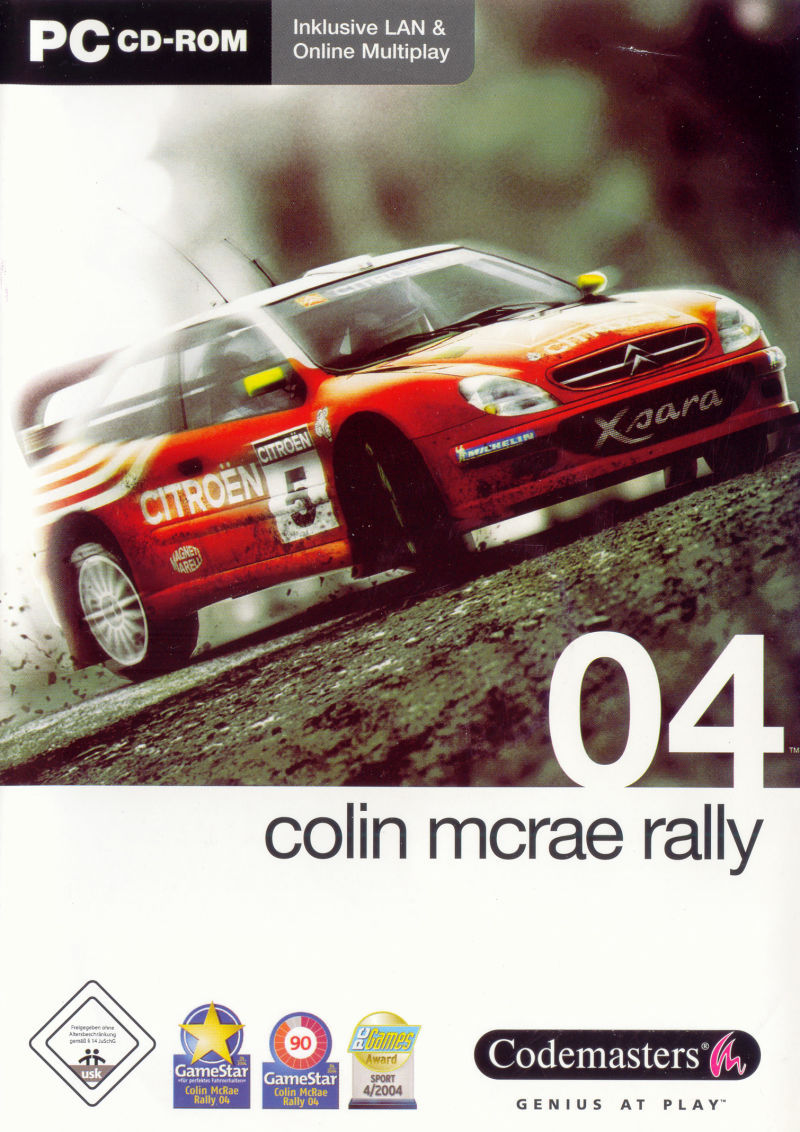 Colin McRae Rally 04 Windows Front Cover