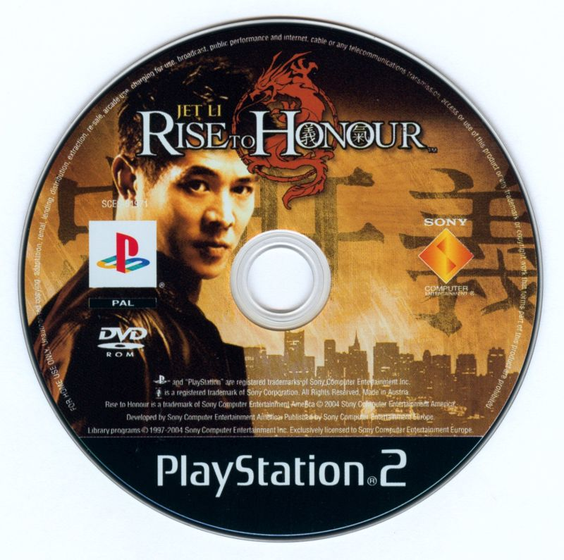 Rise to Honor PlayStation 2 Media