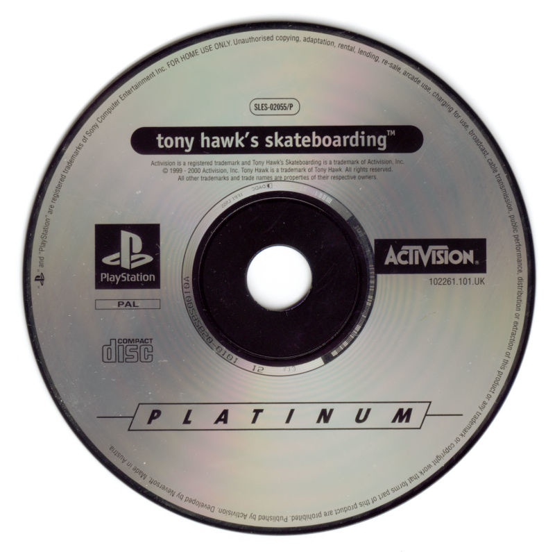 Tony Hawk's Pro Skater PlayStation Media