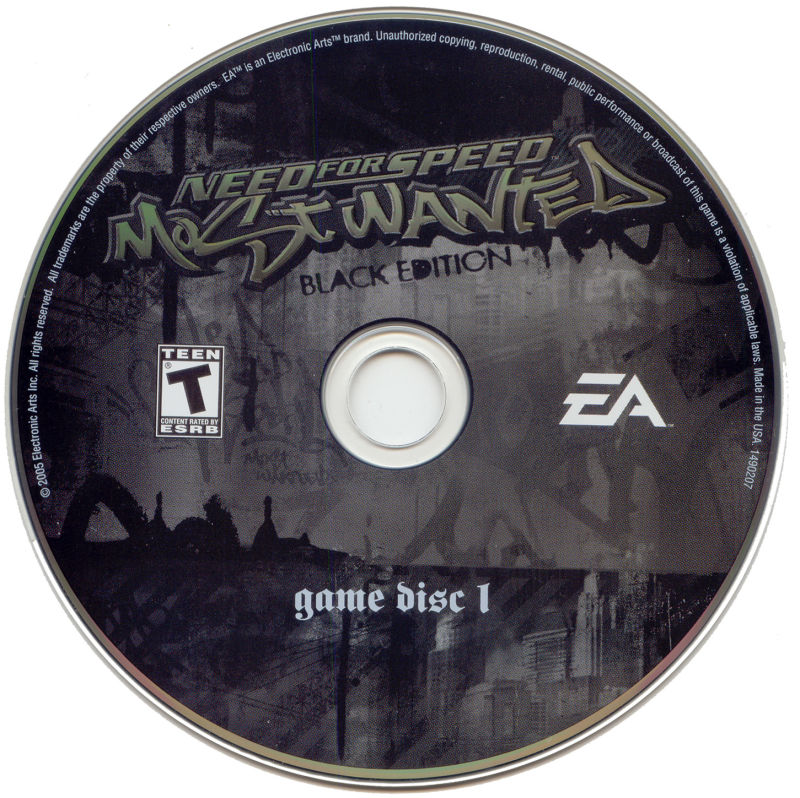 Need for Speed: Most Wanted (Black Edition) Windows Media Disc 1/4
