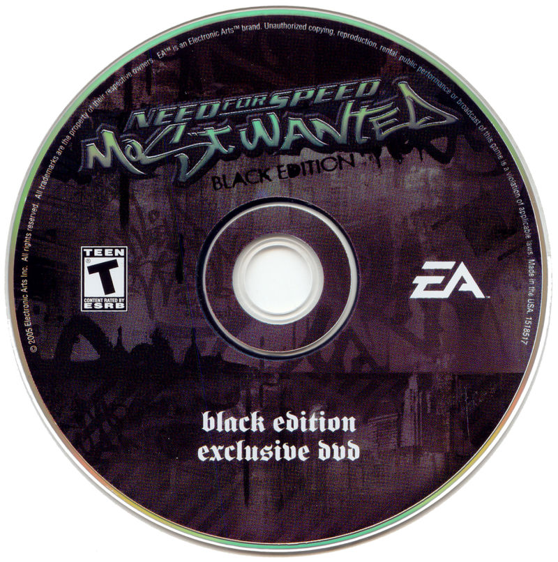 Need for Speed: Most Wanted (Black Edition) Windows Media Bonus Disc
