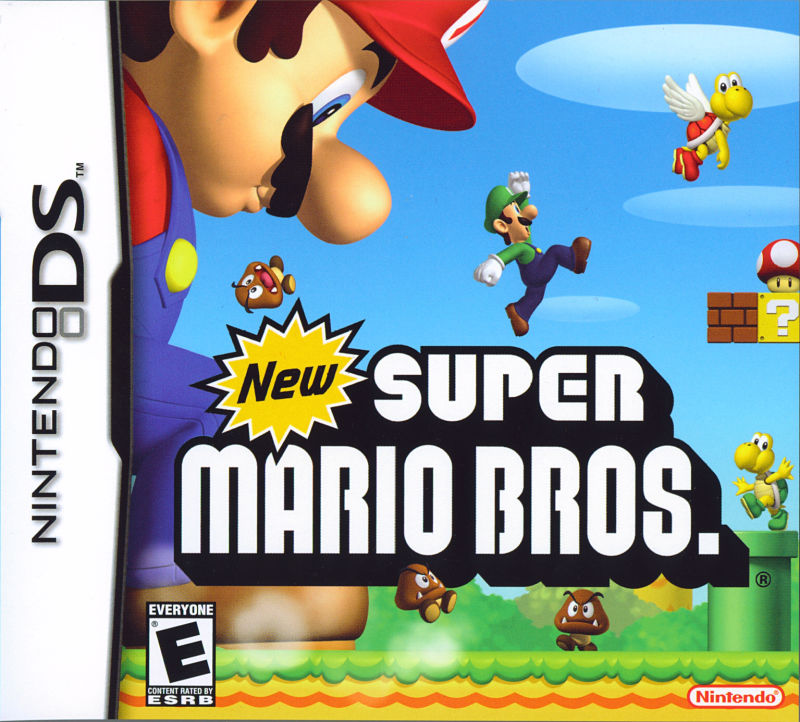 New Super Mario Bros. Nintendo DS Front Cover