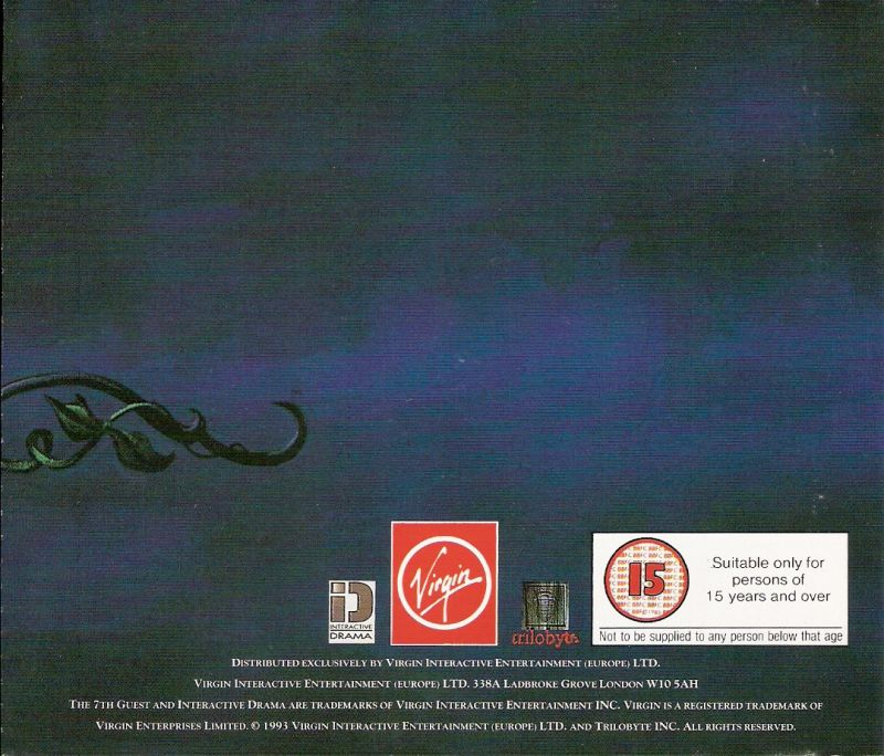 The 7th Guest DOS Other Jewel Case - Back