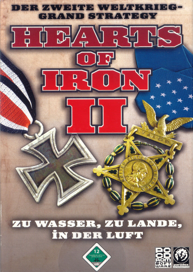 Hearts of Iron II Windows Front Cover
