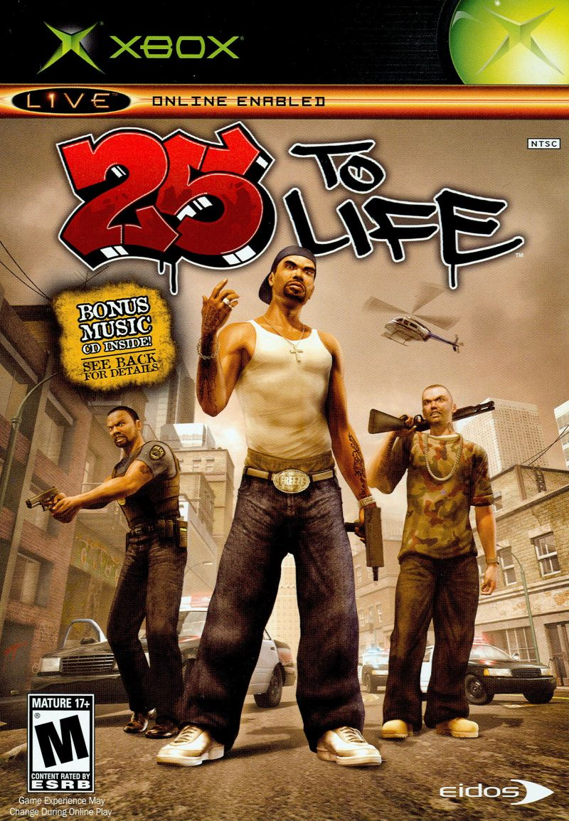 25 to Life Xbox Front Cover