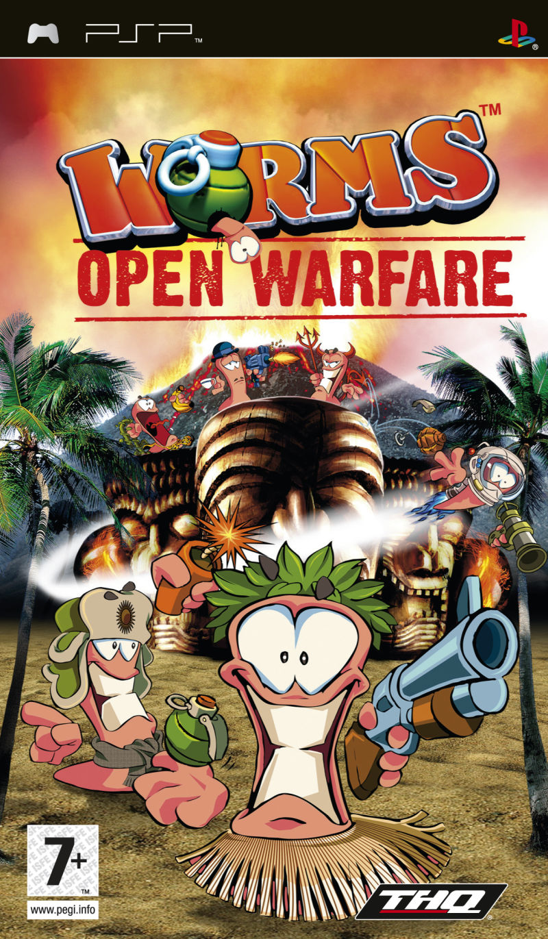 Worms: Open Warfare PSP Front Cover