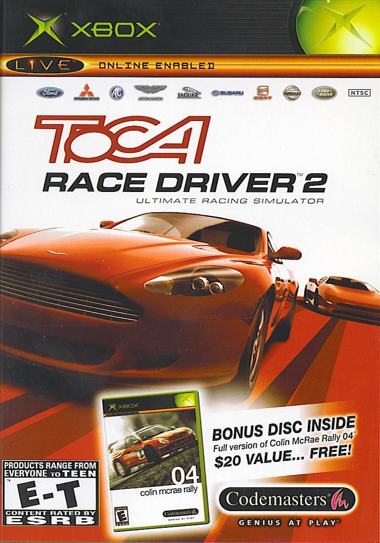 TOCA Race Driver 2 Xbox Front Cover