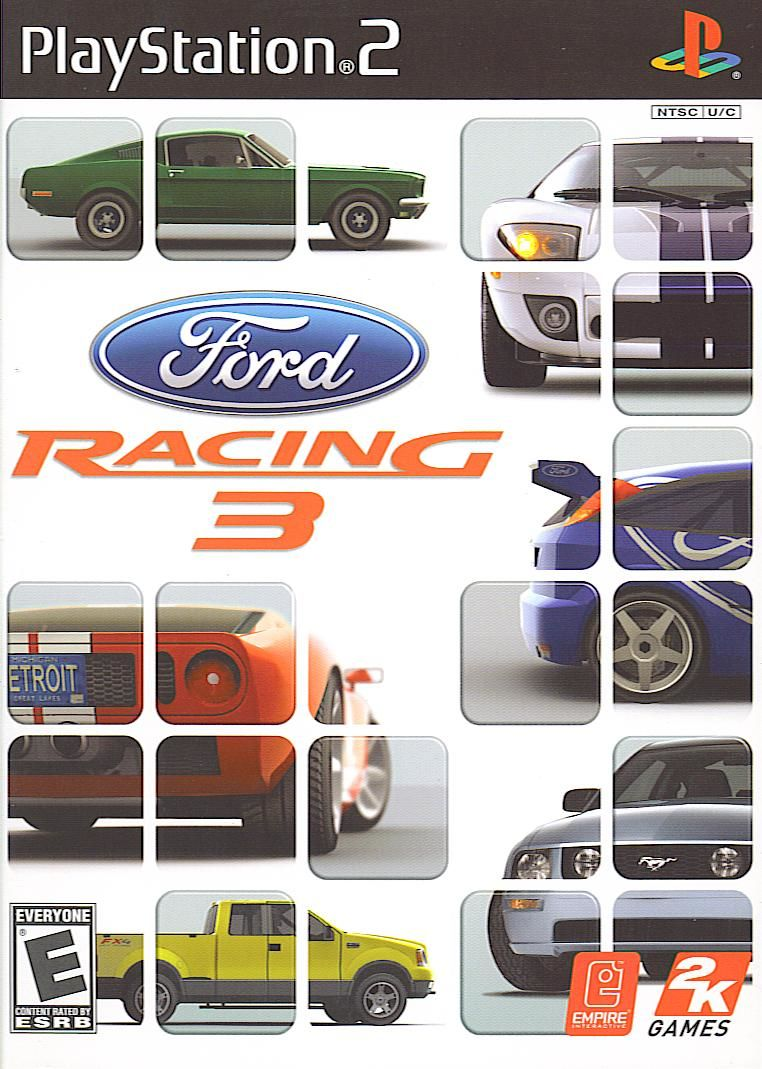 Ford Racing 3 PlayStation 2 Front Cover