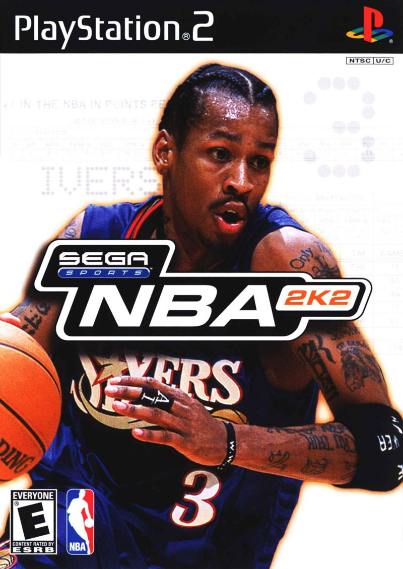NBA 2K2 PlayStation 2 Front Cover