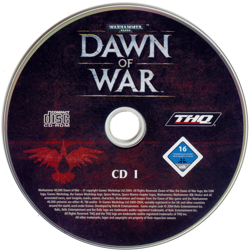 Warhammer 40,000: Dawn of War Windows Media Disc 1/3