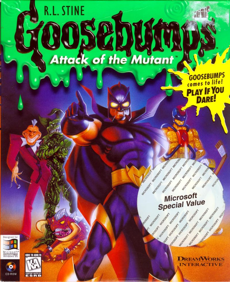 Goosebumps Book Cover Art : Goosebumps attack of the mutant windows box cover