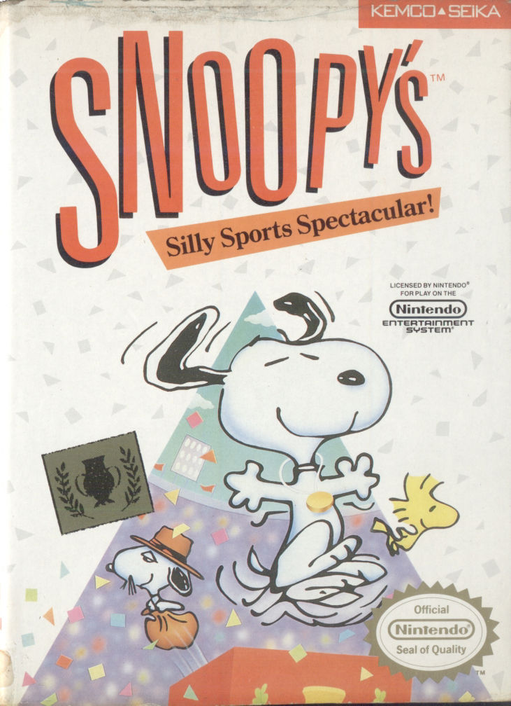 Snoopy's Silly Sports Spectacular NES Front Cover