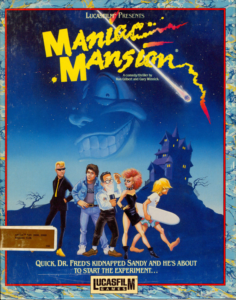Maniac Mansion Amiga Front Cover