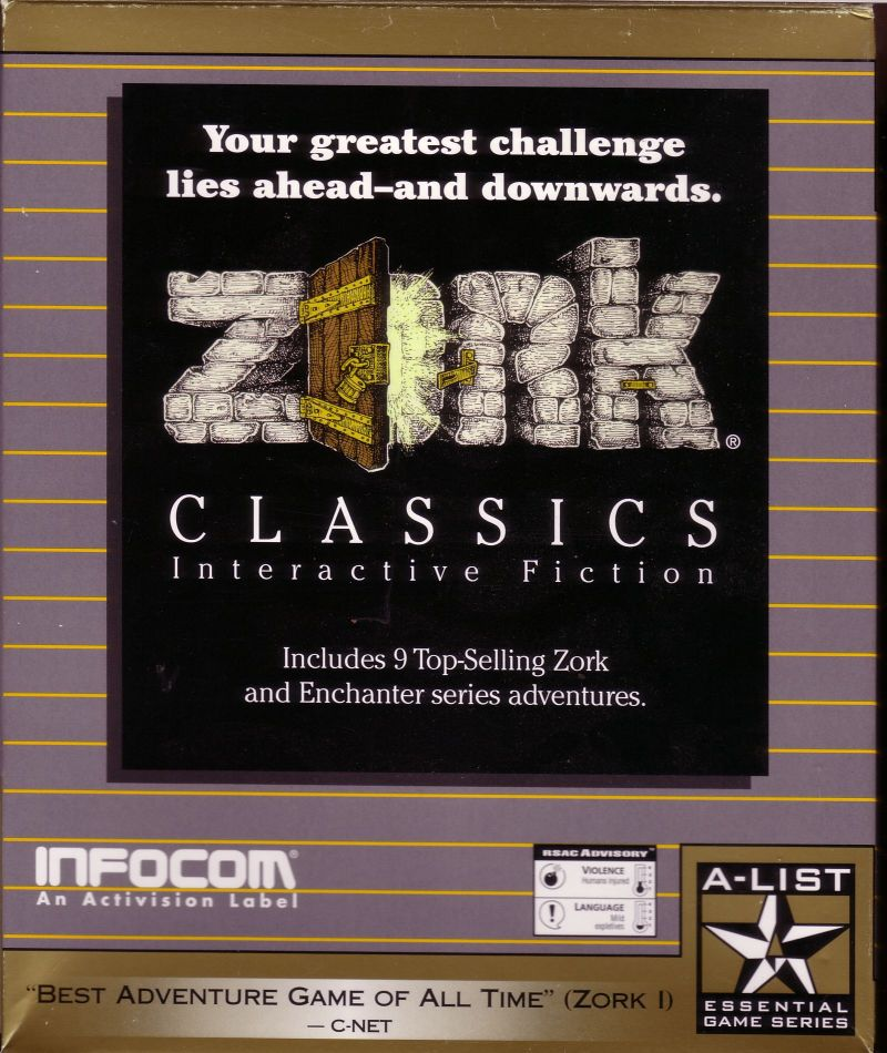 Zork Classics: Interactive Fiction Windows Front Cover