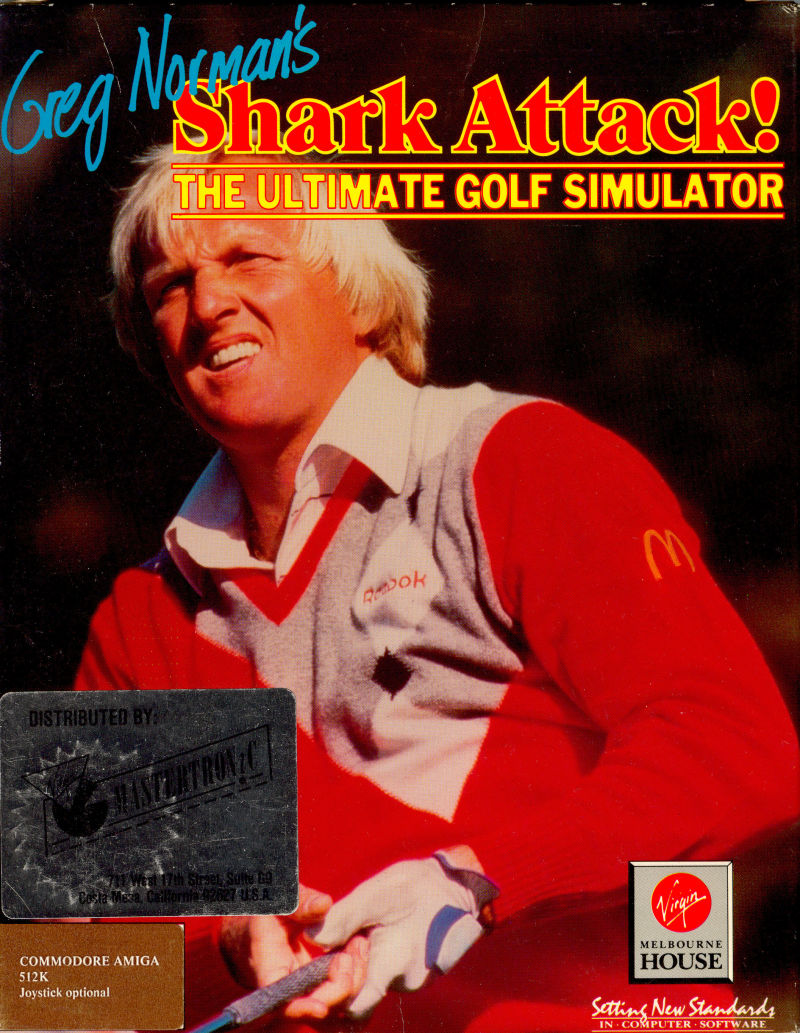 Greg Norman's Shark Attack! The Ultimate Golf Simulator Amiga Front Cover