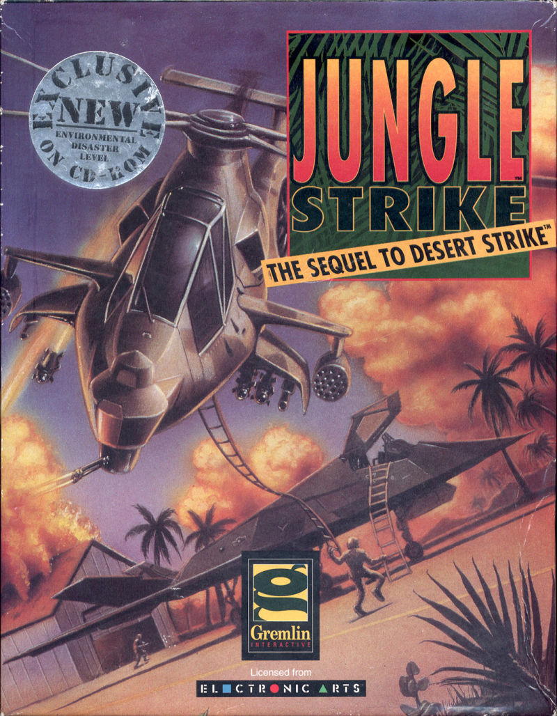 Jungle Strike DOS Front Cover