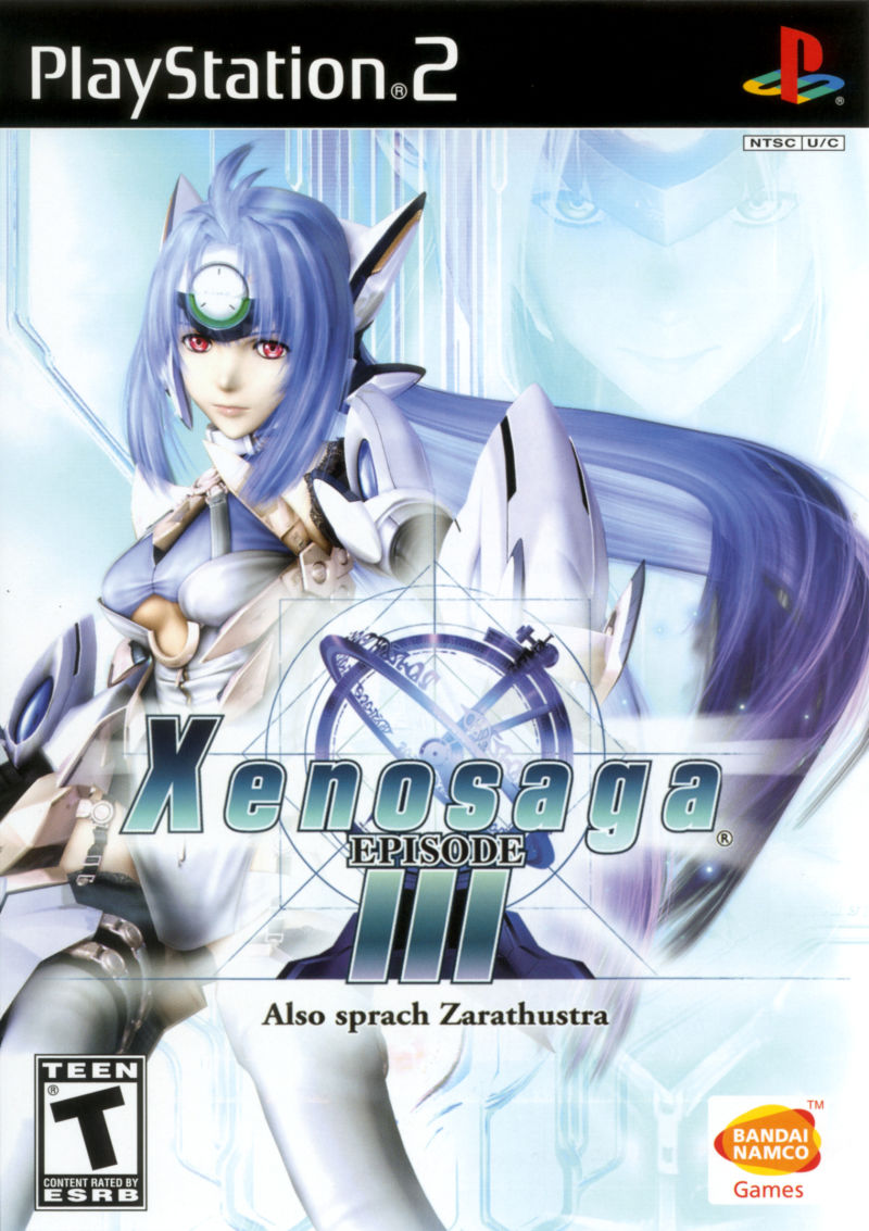 Xenosaga: Episode III - Also Sprach Zarathustra PlayStation 2 Front Cover