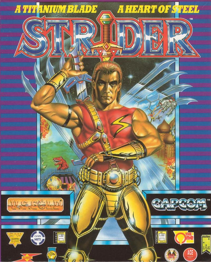 Strider Atari ST Front Cover