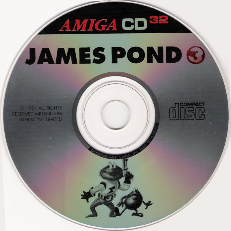 James Pond 3: Operation Starfish Amiga CD32 Media