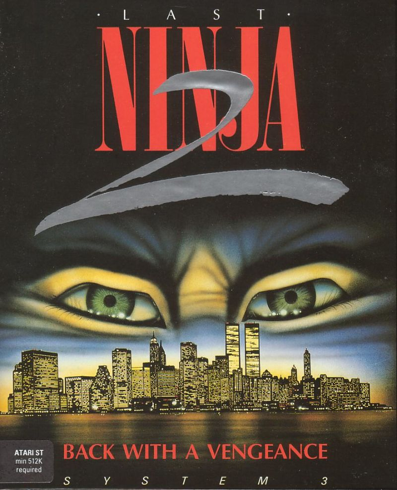 Last Ninja 2: Back with a Vengeance Atari ST Front Cover