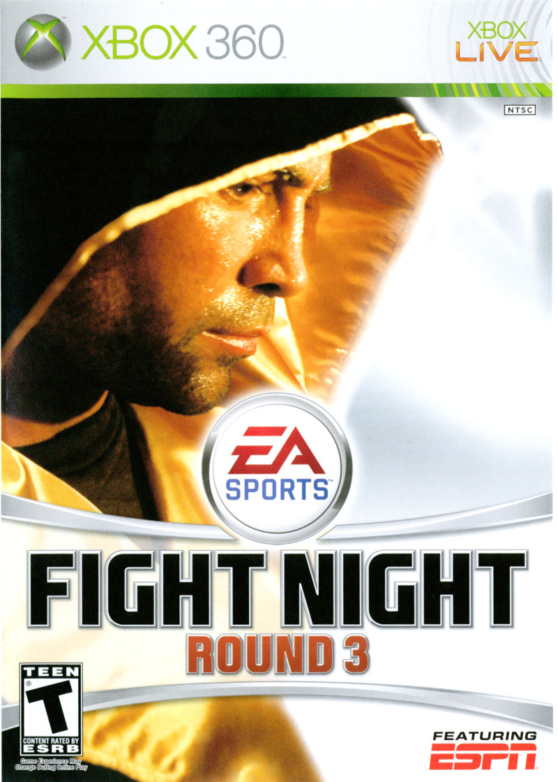 Fight Night Round 3 Xbox 360 Front Cover