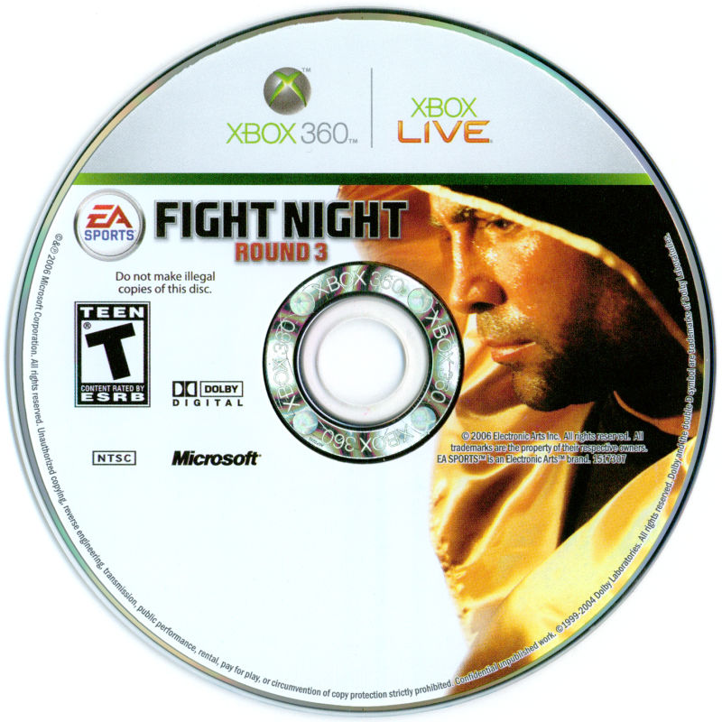 Fight Night Round 3 Xbox 360 Media