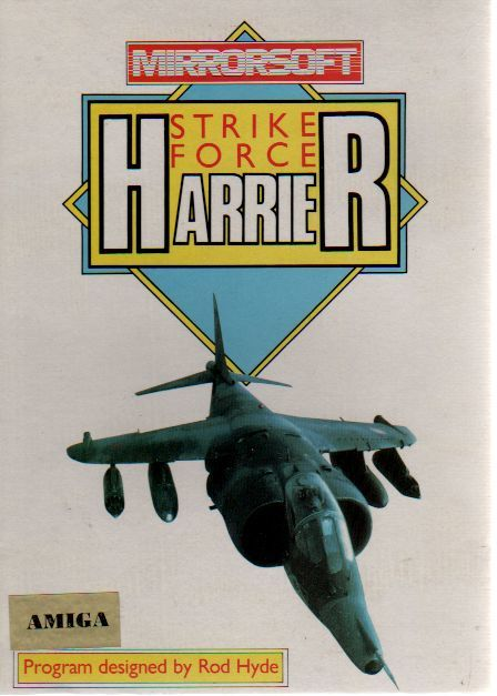 Strike Force Harrier Amiga Front Cover