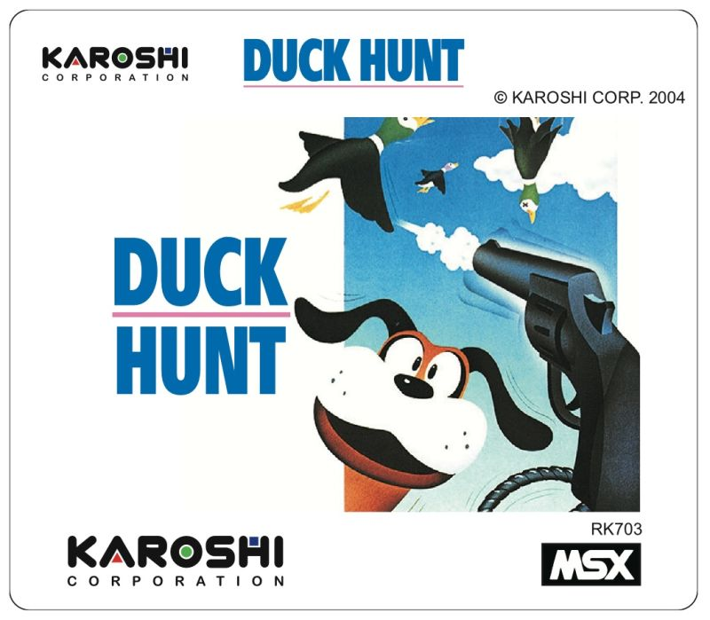 Duck Hunt MSX Media Cartridge sticker
