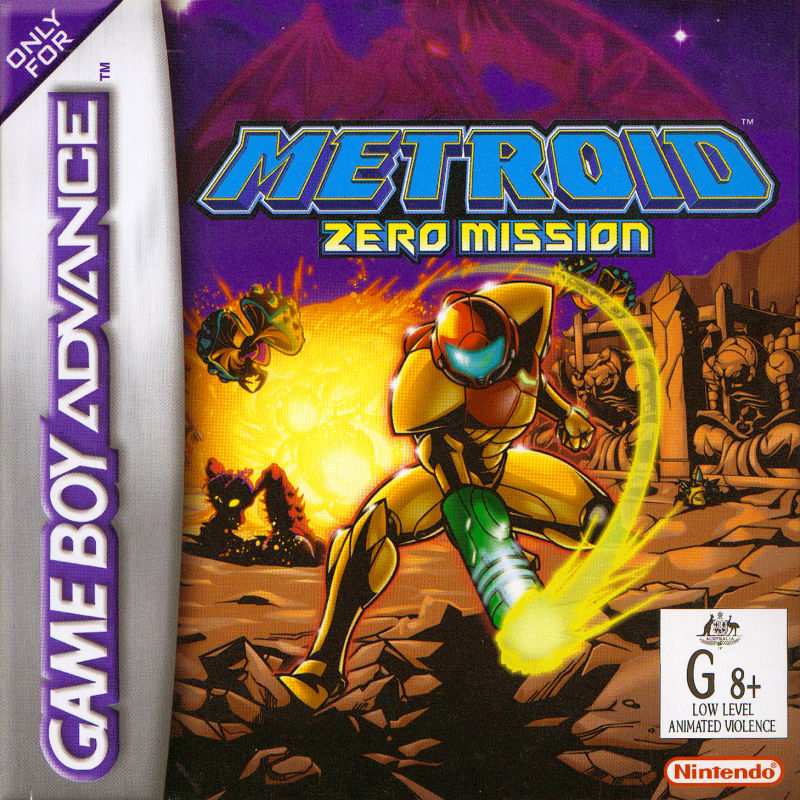 Metroid: Zero Mission Game Boy Advance Front Cover