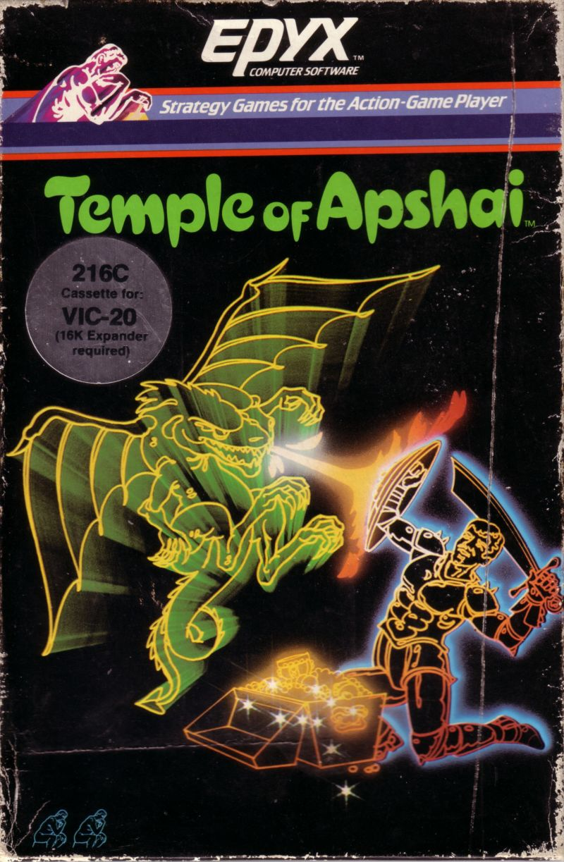 Dunjonquest: Temple of Apshai VIC-20 Front Cover