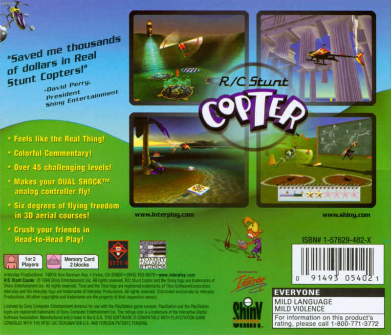 R/C Stunt Copter PlayStation Back Cover
