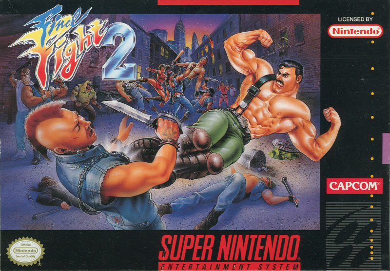 Final Fight 2 SNES Front Cover