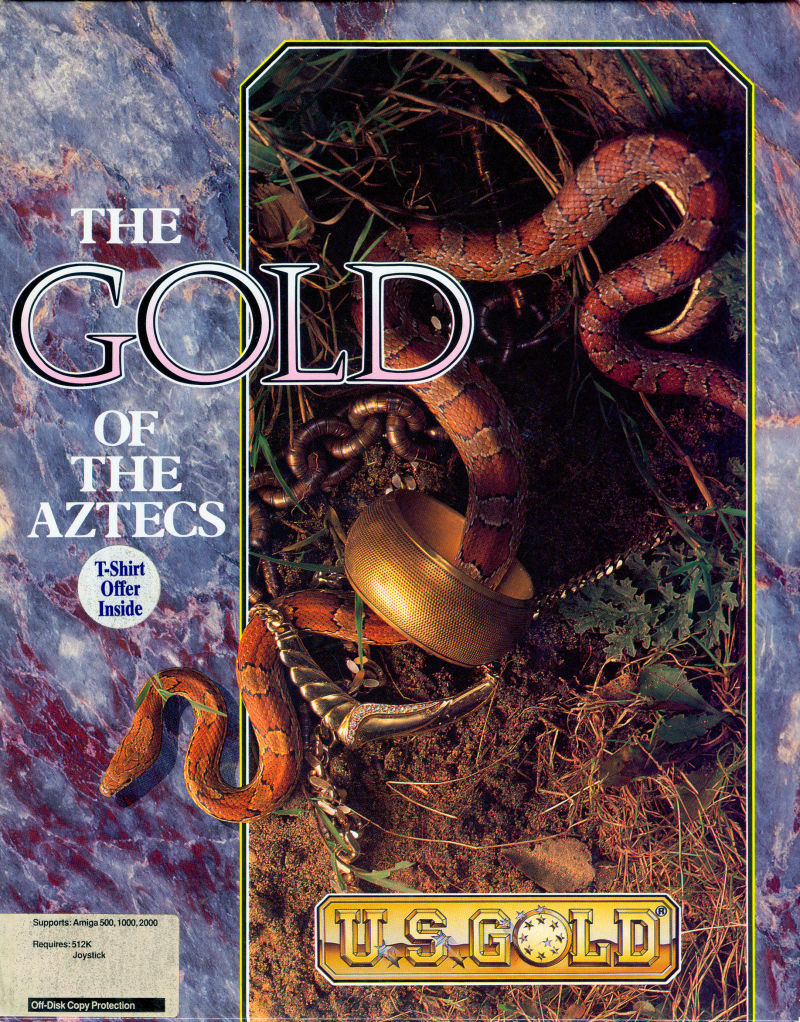 The Gold of the Aztecs Amiga Front Cover