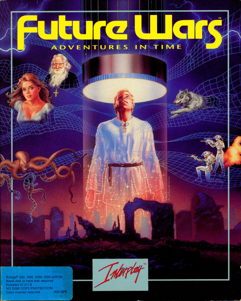 Future Wars: Adventures in Time Amiga Front Cover