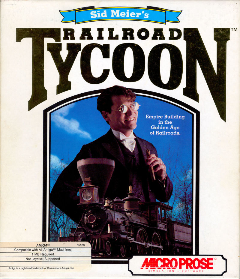 Sid Meier's Railroad Tycoon Amiga Front Cover