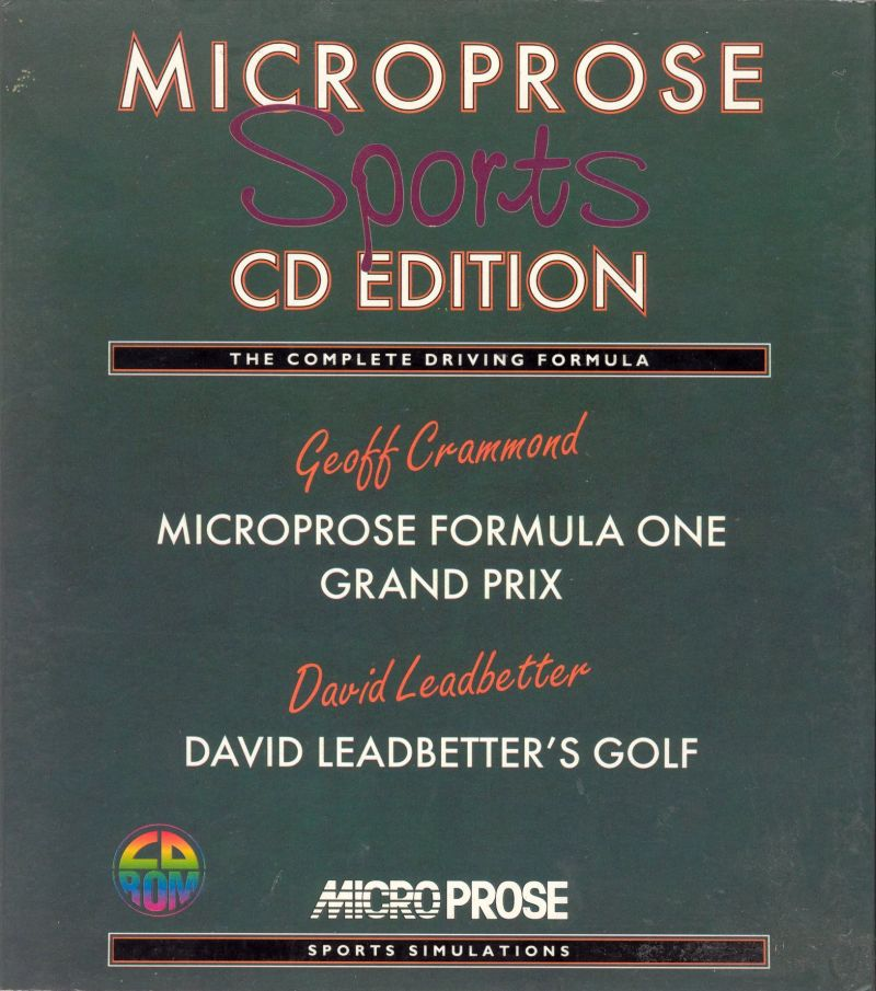 Microprose Sports CD Edition DOS Front Cover