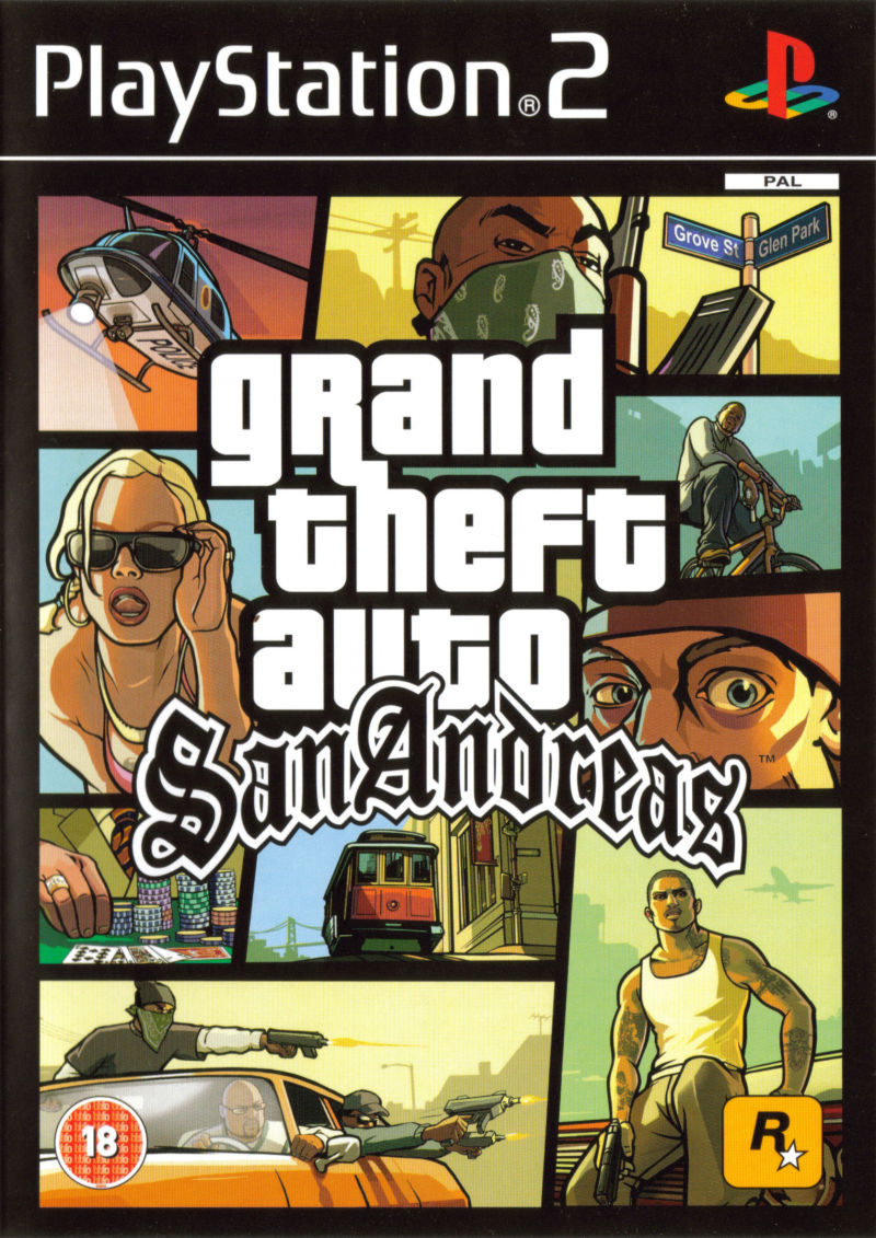 Grand Theft Auto: San Andreas PlayStation 2 Front Cover