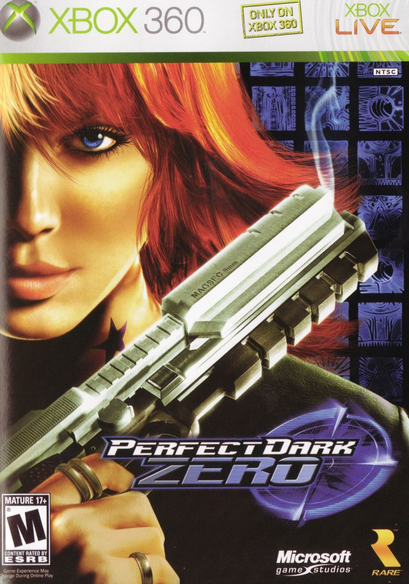 Perfect Dark Zero Xbox 360 Front Cover