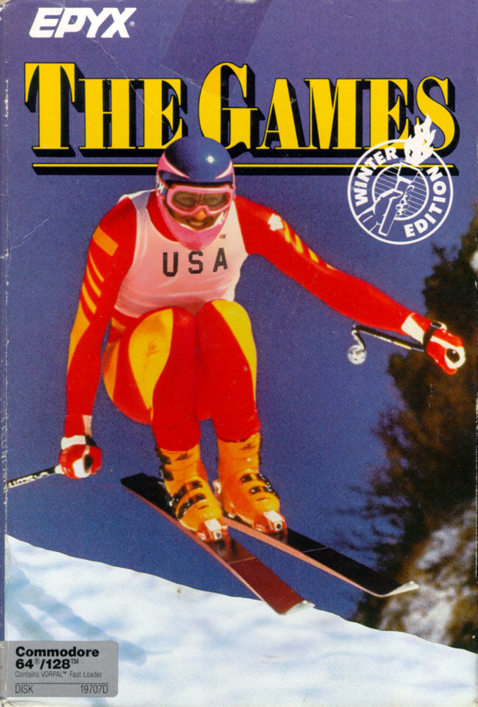 The Games: Winter Edition Commodore 64 Front Cover