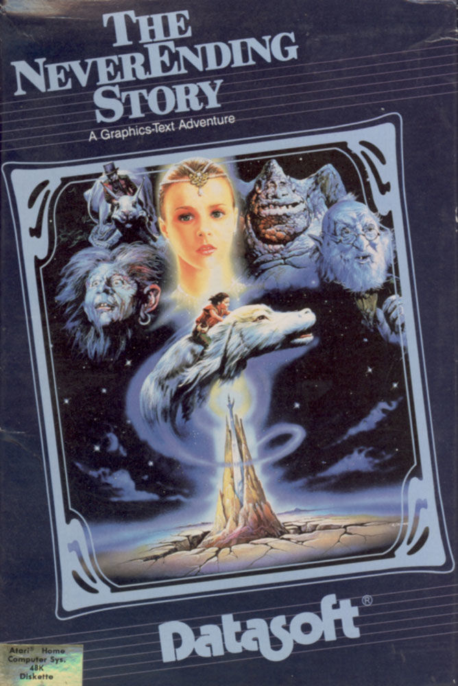 The Neverending Story Atari 8-bit Front Cover