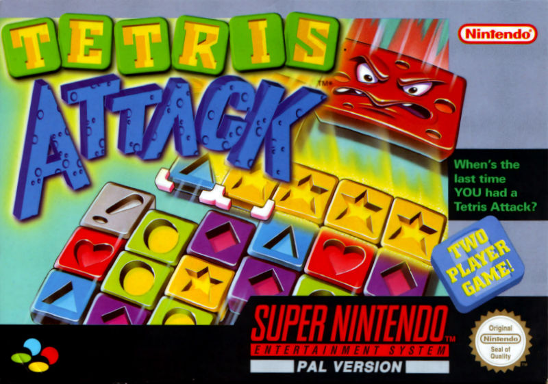 Tetris Attack SNES Front Cover