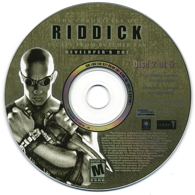 The Chronicles of Riddick: Escape from Butcher Bay Windows Media Disc 2