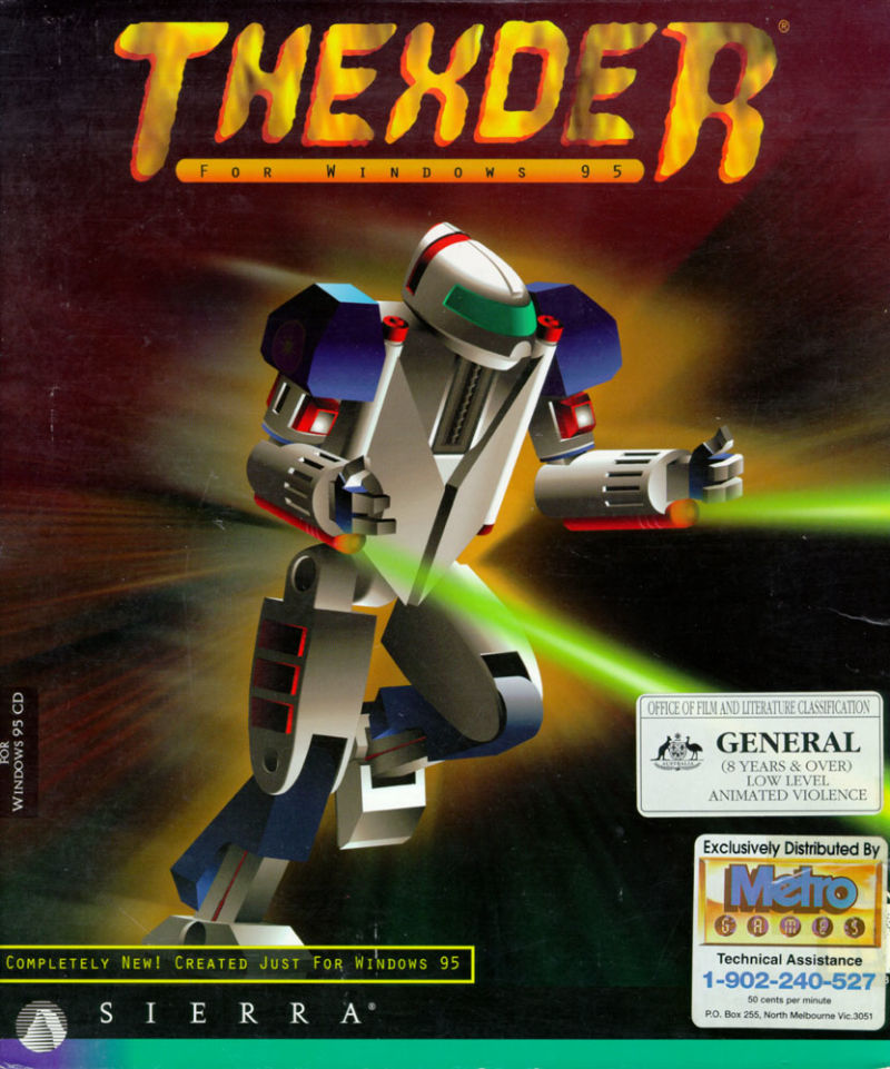 Thexder Windows Front Cover