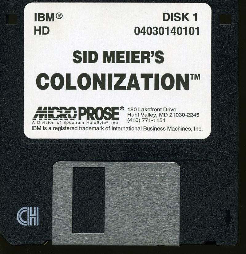 Sid Meier's Colonization DOS Media Disk 1/3
