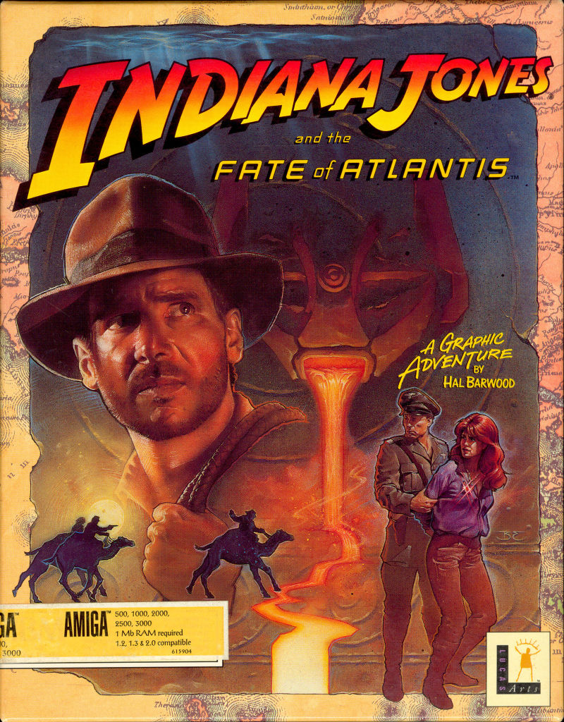Indiana Jones and the Fate of Atlantis Amiga Front Cover