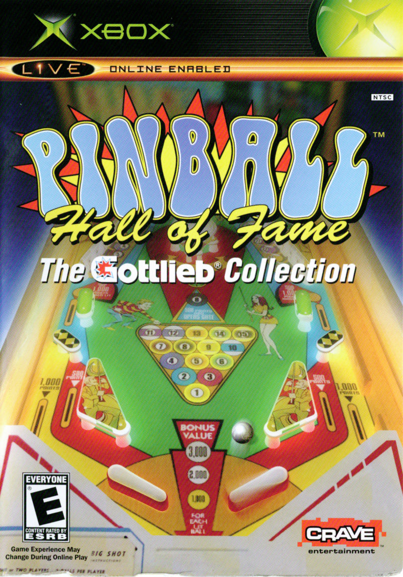 Pinball Hall of Fame: The Gottlieb Collection Xbox Front Cover