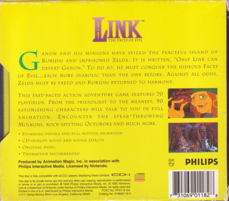 Link: The Faces of Evil CD-i Back Cover