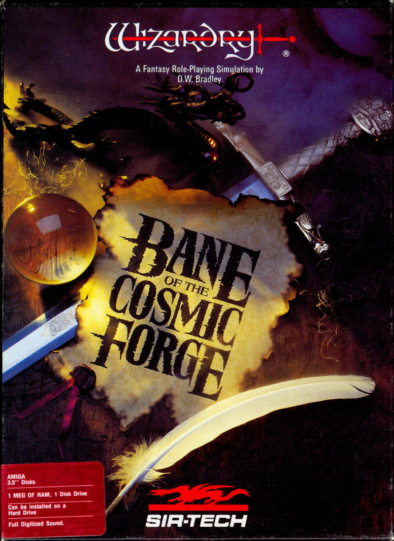Wizardry: Bane of the Cosmic Forge Amiga Front Cover