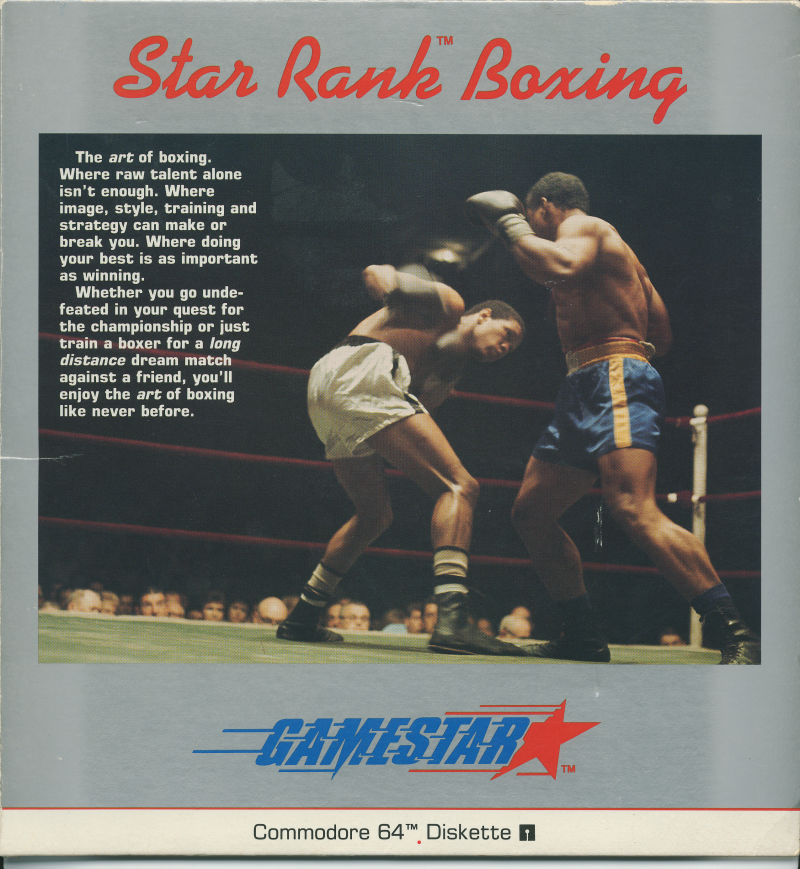 Star Rank Boxing Commodore 64 Front Cover